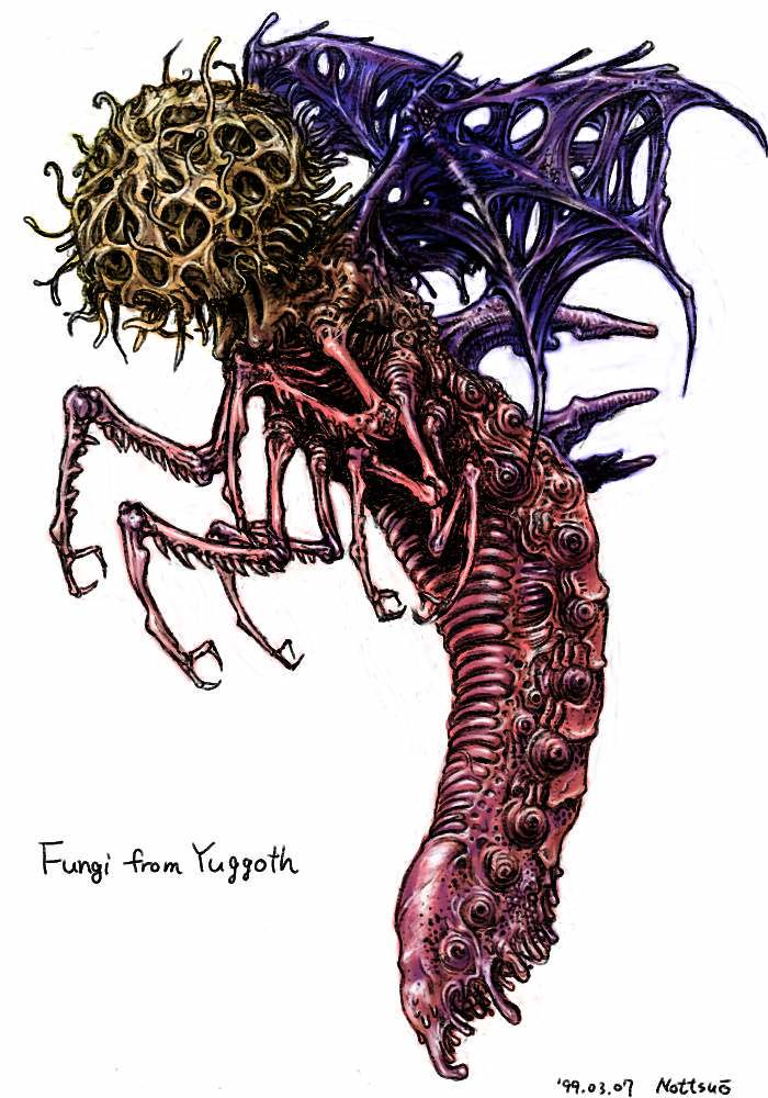 Tatsuya Nemoto (H.P Lovecraft Illustration) Fungi from Yuggoth