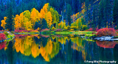 Fall On Jolanda Lake, Wenatchee River (Feng Wei Photography) Tags: travel light shadow red wallpaper usa lake color reflection green fall nature water beautiful beauty yellow canon river landscape washington colorful scenic national scenary stunning geographic leavenworth nationalgeographic xsi wenatcheeriver chelancounty 450d colorphotoaward winnr 100commentgroup dblringexcellence tplringexcellence jolandalake aboveandbeyondlevel1 aboveandbeyondlevel2 aboveandbeyondlevel3