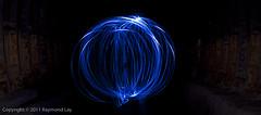 Orb of blue LED (Mondino1980) Tags: blue light shadow red 3 vortex man flower london wool wheel train fire jump wire rust track ghost orb 8 tunnel led raymond lay armed connaught mondino murphyz