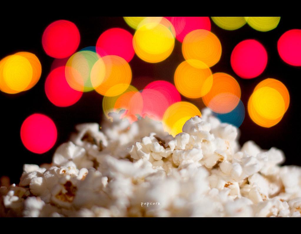Day 175, 175/365, Project 365, Bokeh, strobist, popcorn, bokeh bubbles, cinema, movie, movies, kino, colours,