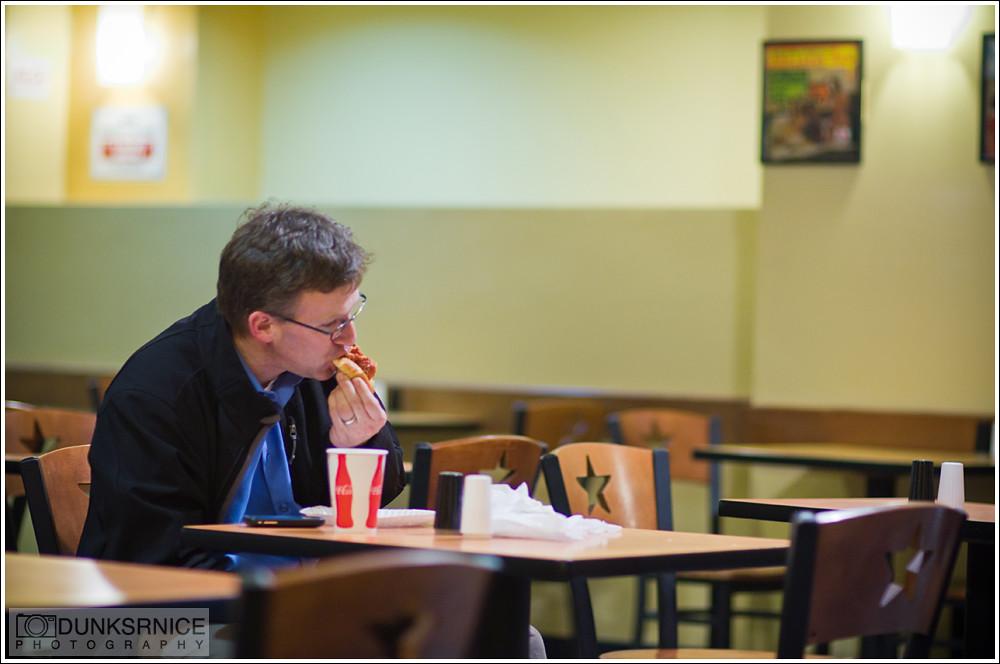 Eat alone.