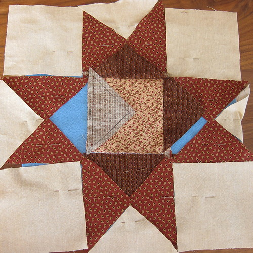 First Hand Pieced Square in Progress