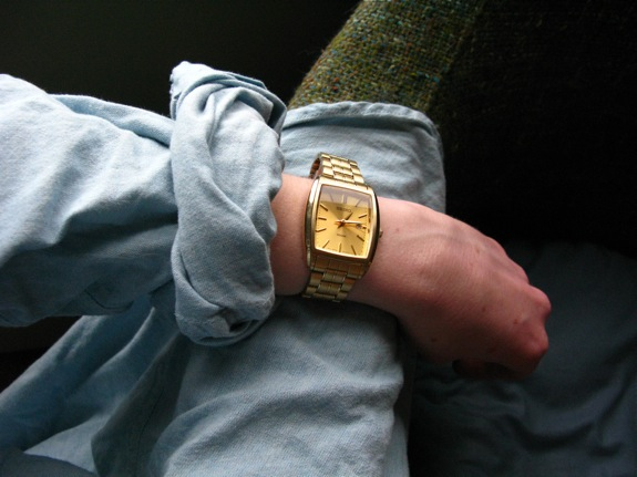 gold objects 010 seiko watch