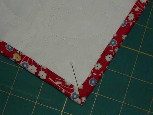quilt back corner