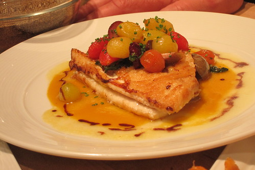 2011 Oscar Food: Pan Roasted Dover Sole with Fennel, Olives, Haricot Vert, Tomatoes, Lemon, Sherry and Olive Oil.