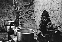TRADITION IN LADAKH (fabsnonfire) Tags: china old travel b grandma woman india home kitchen analog trekking trek photography hiking w egypt malaysia himalaya homestay ladakh