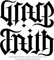 """Grace"" & ""Faith"" Ambigram v.2"