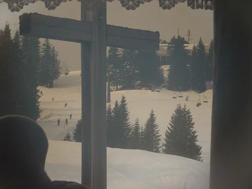 Kreuz der Kreuzalm - Ski-WM, Tag 7, oben zum Skifahren