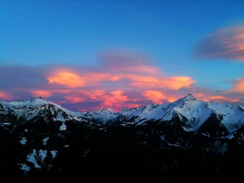 Sonnenuntergang in den Zillertaler Alpen