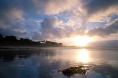 Carmel Sunset (andreaskoeberl) Tags: ocean california longexposure sunset sun seascape reflection clouds monterey nikon carmel carmelbythesea ndfilter 1685 d7000 nikon1685 nikond7000 andreaskoeberl