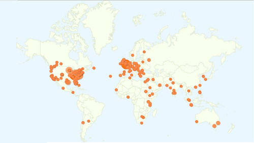 Blog reader map Janfeb2011