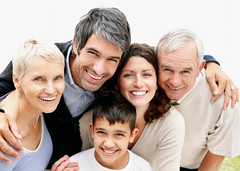 Portrait of a cheerful loving couple with parents and son (Lensation Studio) Tags: woman man girl background people white old women family child happy children young boy female men male beautiful kid love smile beauty smiling senior person lady mother life fun portrait looking care elderly adult human older mature middle father casual together joy son grandmother enjoy grandfather loving relation grandson bonding