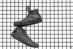 End of Day (st.weber71) Tags: chucks converse shoes schuhe sneaker chucktaylor used laufen schwarzweis blackandwhite nikon mode dirty allstar