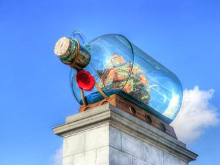 London - Nelson's ship in a bottle