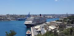 Queen Victoria, Cunard, Grand Harbour, Malta. (Robert G Henderson (Romari).) Tags: samsung galaxy s6 mobile phone
