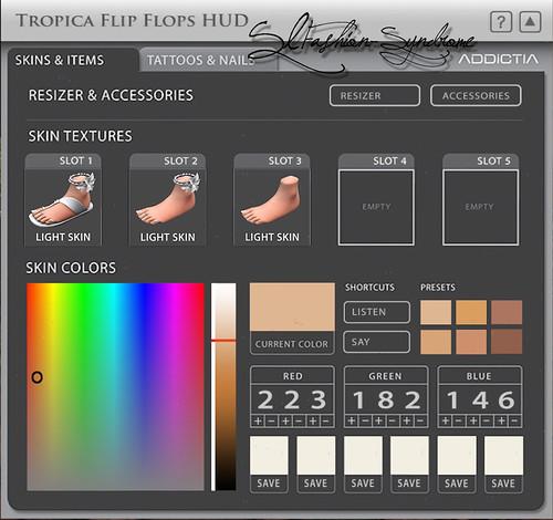 +ADDiCTIA+ Tropica Flip Flops Hud #1