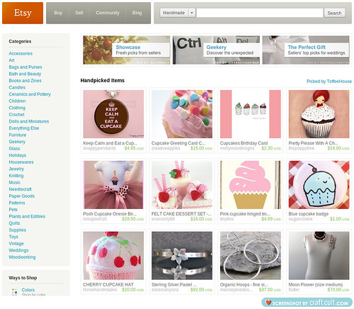 I made the front page of Etsy on Friday!