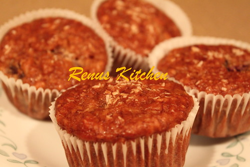 Eggless oatmeal banana muffin