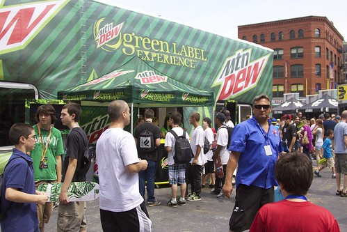 Mountain Dew Booth
