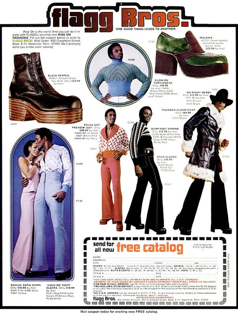 84a56afdea7 Super Fly Seventies Fashion From The Flagg Bros – Voices of East Anglia