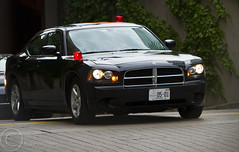 Motorcade moving into Staging area (Mike Hillman) Tags: toronto g protest police 8 cbc rcmp 20 harper obama 2010 g8 motorcade g20