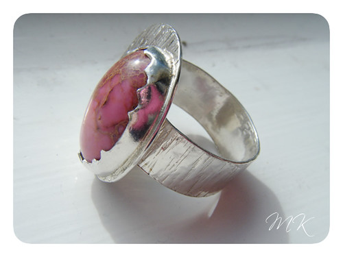 pink sea sediment jasper ring 3