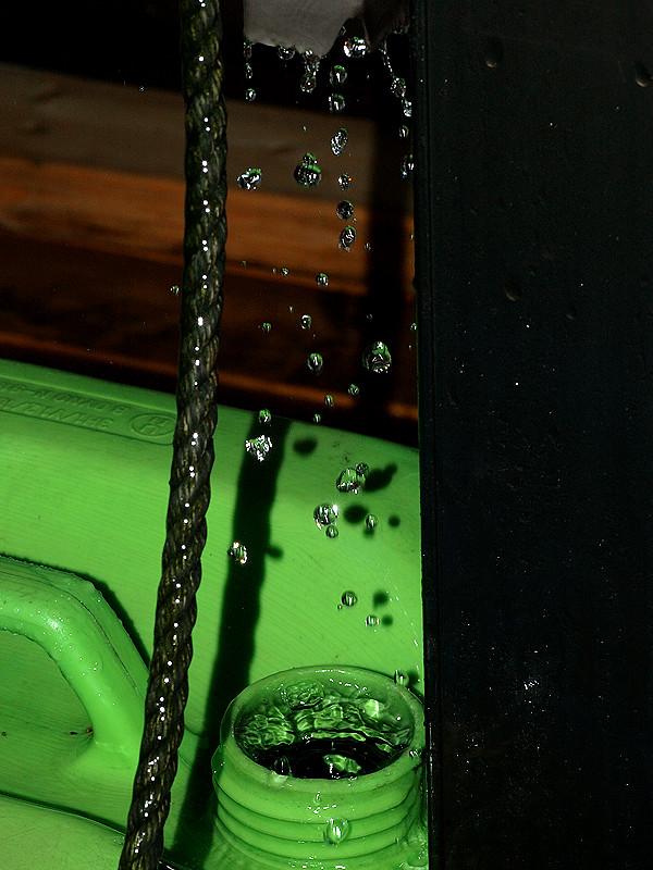 雨水の水滴