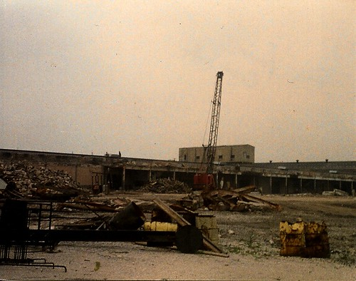 What was left after the old Santa Fe / Crane plumbing Supply tower building was demolished. Chicago Illinois.Circa 1993. by Eddie from Chicago