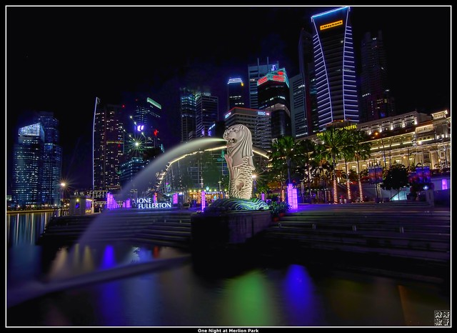 One Night at Merlion Park