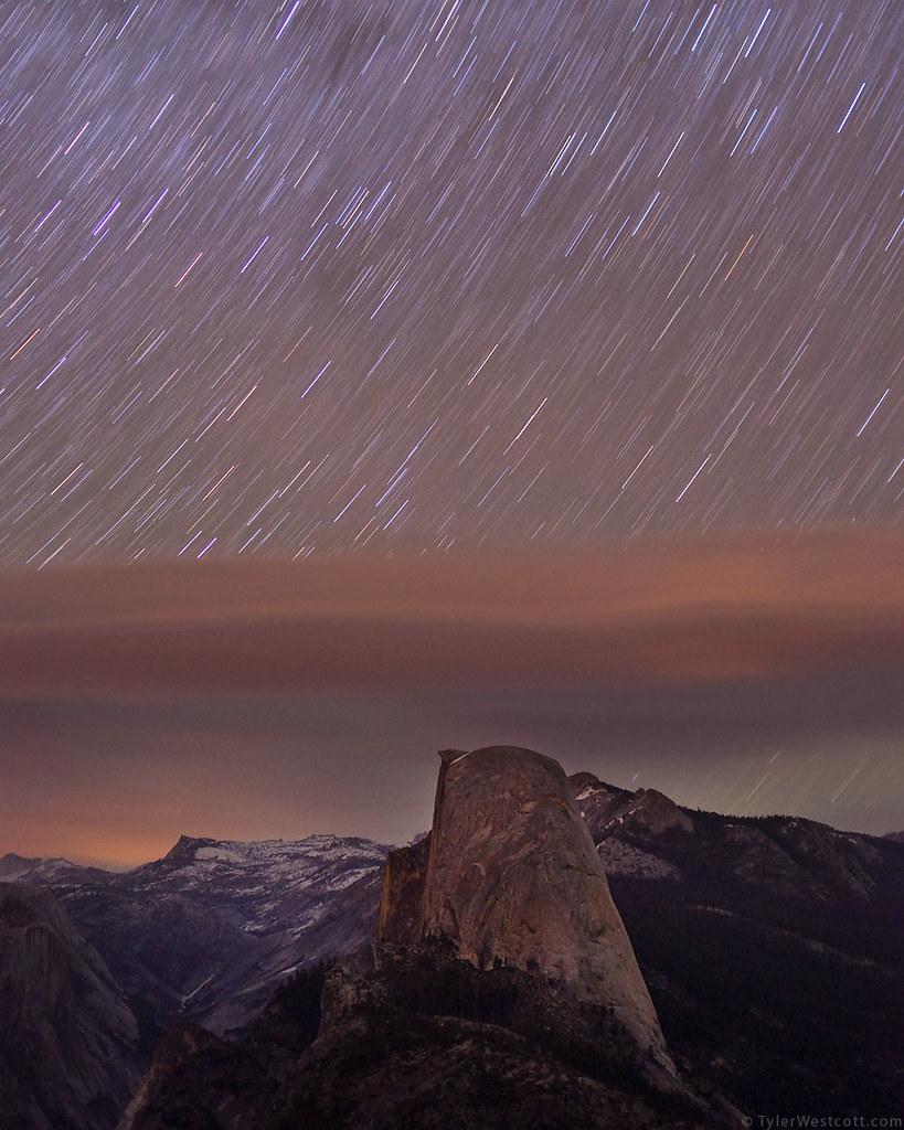 Midnight Sky over Half Dome, Yosemite National Park
