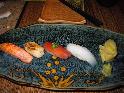 鮭魚、干貝、鮪魚、花枝