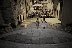 Girls Descending a Staircase (SeenyaRita) Tags: dubrovnik