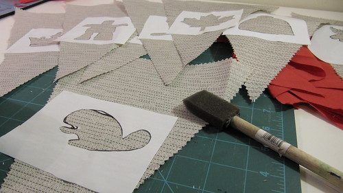 4b. DIY Project: Canada Day Pennant Bunting: Paint Your Stencils