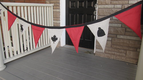 DIY Project: Canada Day Pennant Bunting