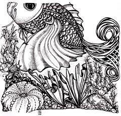 Fishy Doodle (sbergeron00) Tags: sea fish underwater doodle doodles ced penandink zentangle creativeeveryday