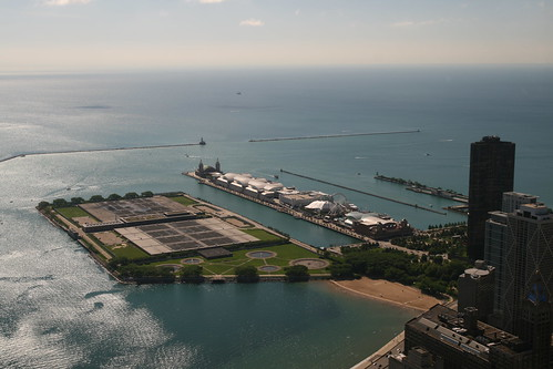 Lake Michigan and the Navy Pier. Bernt Rostad/Flickr