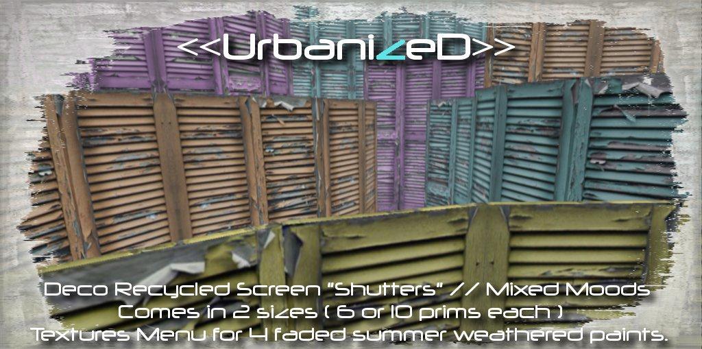 <<UrbanizeD>> Recycled Screen