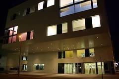 Die HTWK-Bibliothek Leipzig von außen (libviews) Tags: bibliothek leipzig farbe htwk