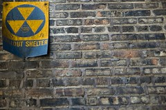 Fallout shelter (lxromero) Tags: city summer chicago sign warning scary downtown nuclear confusing 2010 fallout luisromero