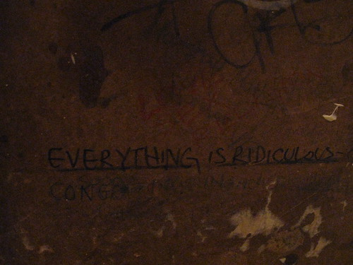 Found in a bathroom stall somewhere. Sums it up.