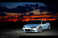 Sunset (Andrew Barshinger Photography) Tags: sunset color car speed eclipse explore mitsubishi strobe