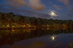 Reflection with a moon (lillemets) Tags: photoshop pentaxistds smcpentaxdal1855mmf3556al