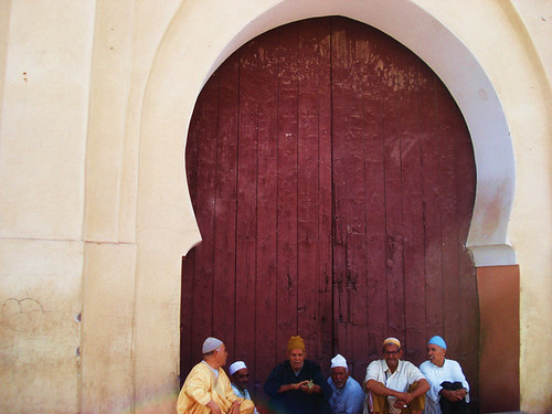 men near temple