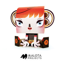 Billy Sweet Monster by Malota (malota) Tags: illustration paper toy skin ilustración papertoy billysweetmonster