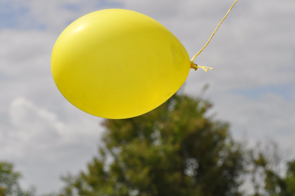 Happiness is a yellow balloon