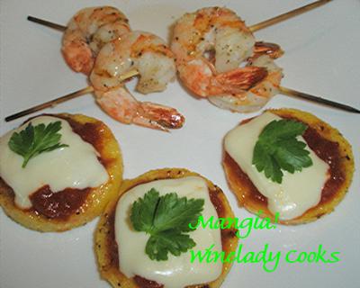 Grilled Polenta Parmigiana @ The Winelady Cooks
