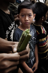 Tenganan Pegeringsingan village, Bali - Mekare-Kare ritual where men and boys don't cry  Part 3 of 4 (Mio Cade) Tags: travel boy bali man male men leaves temple kid fight hurt village child weapon whip ritual shield bleed pura kare tenganan perangpandan mekare pegeringsingan pandanous
