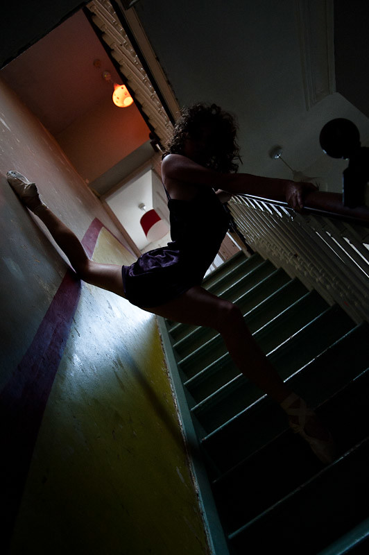 Danielle on the stairs