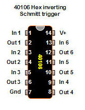 40106 inverted schmitt trigger