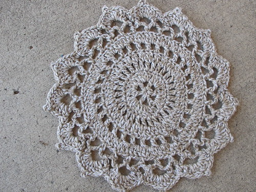 Doily dishcloth in natural